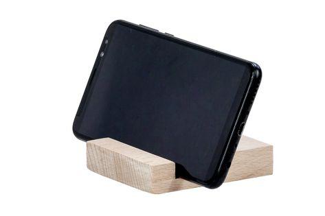 Podstawka pod telefon, drewniana
