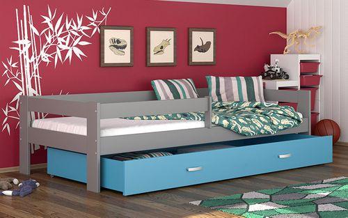 Łóżko dla dzieci HUGO COLOR 160x80  szuflada + materac na Arena.pl