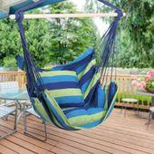 Krzesło brazylijskie wiszące Hamak z poduszkami zdjęcie 4