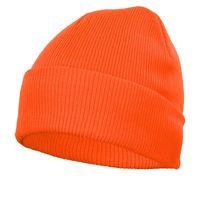 Czapka zimowa dziana pomarańczowa akrylowa ciepła AM