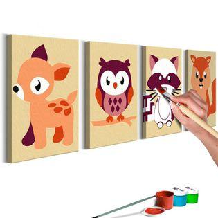 Obraz do samodzielnego malowania - Leśne zwierzątka