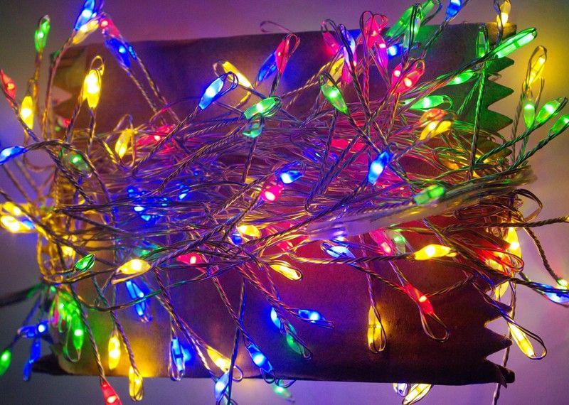 Lampki Na Druciku Sznur 5 M 200 Led Mini Diody Zewnętrzne Oświetlenie świąteczne Nr 0448 Wybierz Kolor światła Multikolor