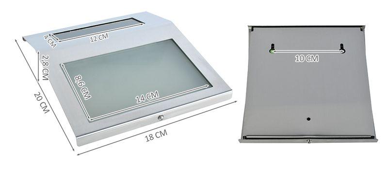 Podświetlany Numer Domu Solarna Lampa LED Metalowa 6783 zdjęcie 3