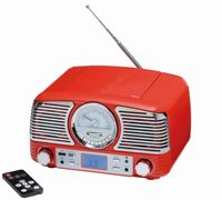 Rejestrator radiowy CD DINER, czerwony, srebrny