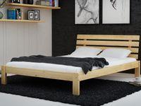Łóżko 140x200 Drewniane Masywne Wysoki Zagłówek F4 Magnat