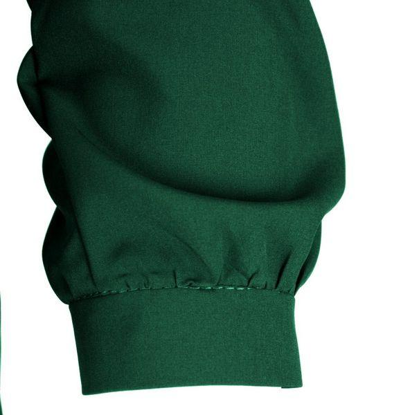 3c22c370a Bluzka koszulowa z wiązaniem i perełkami- polski producent- zieleń Rozmiar  - 40 zdjęcie 4