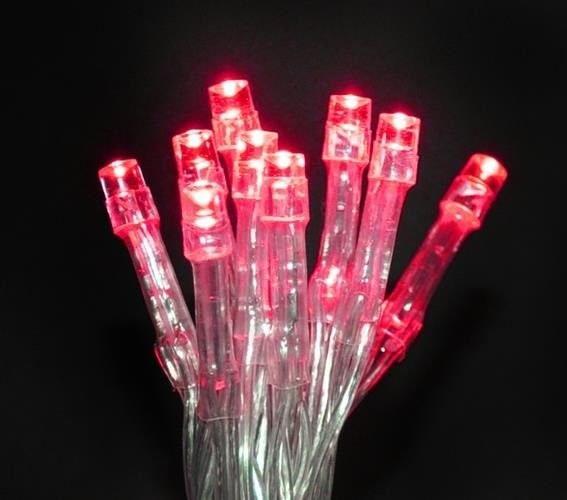 Lampki 10 LED na baterie - czerwony zdjęcie 23