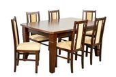 Zestaw 6 krzeseł i stół FORNIR