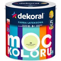 Farba lateksowa MOC KOLORU 2,5L limonkowy sorbet