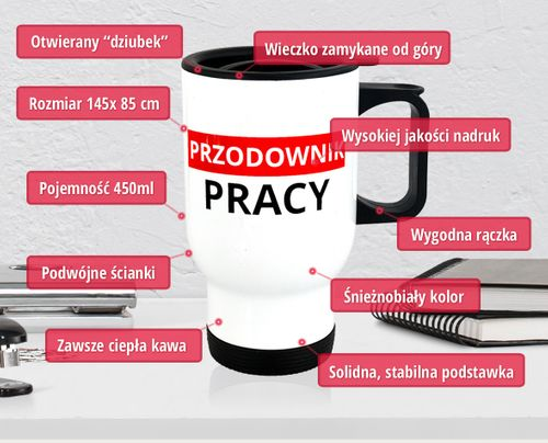 Kubek Termiczny Przodownika Pracy, PREZENT PRL, do biura i domu na Arena.pl