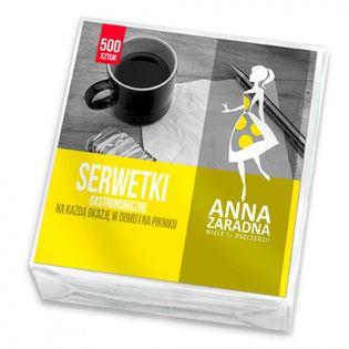 Serwetki Anna Zaradna, Gastronomiczne, 15X15Cm, 500 Szt., Biały
