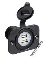 2x Gniazdo USB 12/24V max. 2,1A montaż w panel
