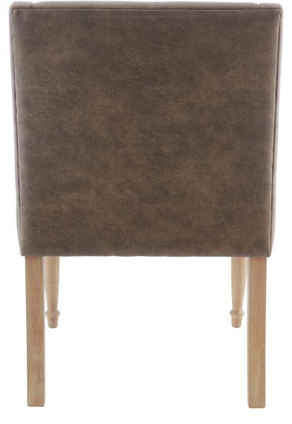 Brązowy fotel z toczonymi nogami zdjęcie 2