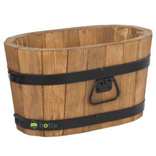 Drewniana donica kwietnik 40x22x21 cm Dąb