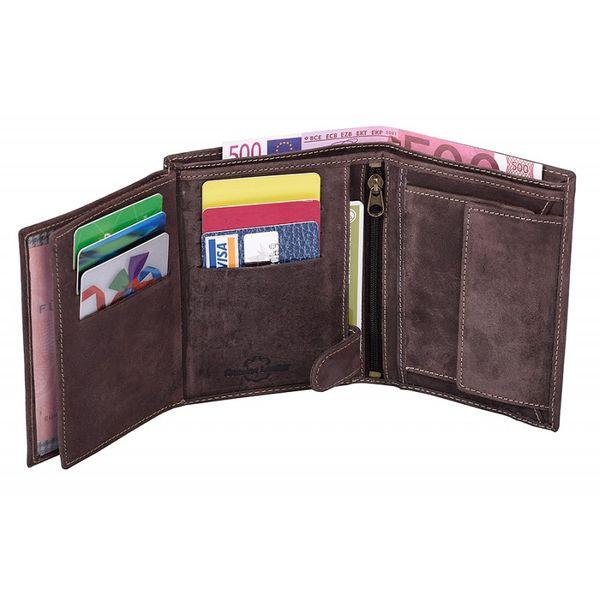 d674153bced6e ... Pionowy portfel męski Always Wild ze skóry nubukowej - ciemny brąz  zdjęcie 7 ...
