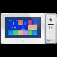 Zestaw wideodomofonowy, bezsłuchawkowy kolor, LCD 7, dotykowy, menu OSD, pamięć, gniazdo na kartę SD, DVR, OR-VID-EX-1060/W