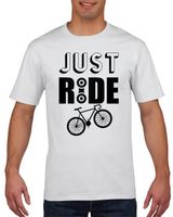 Koszulka męska Just ride - rower XXL Biały
