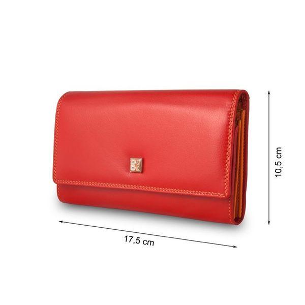 Skórzany portfel damski DuDu®, 534-1165 czerwony zdjęcie 3