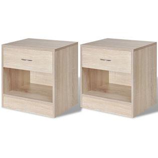 2 szafki nocne z szufladą, kolor drewna dębowego