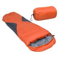 Lumarko Lekki śpiwór dziecięcy typu mumia, pomarańczowy, 670 g, 10°C!