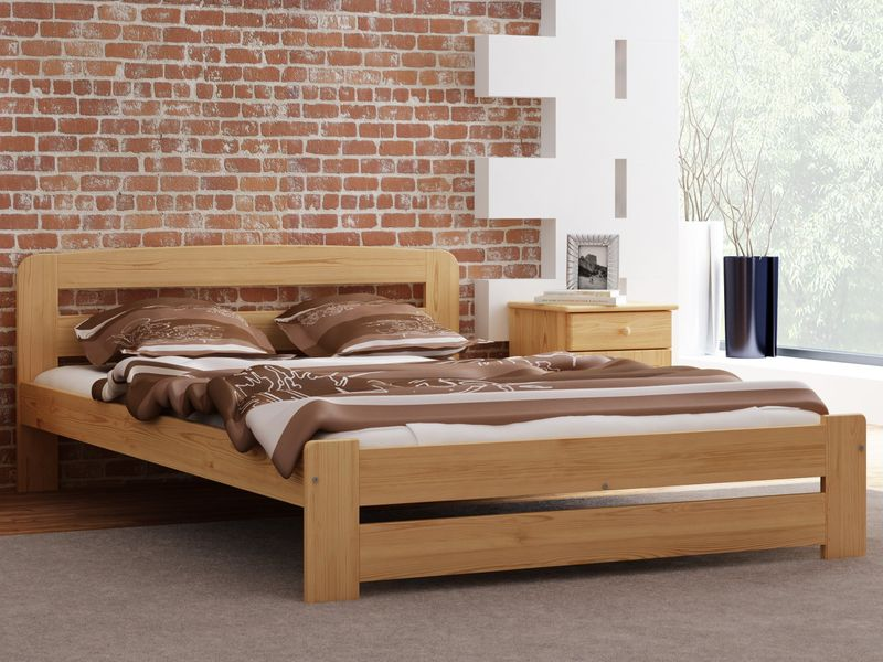 łóżko Drewniane 160x200 Lidia Sosna Meble Magnat