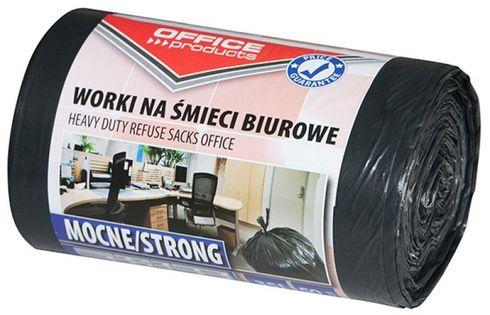 Worki Na Śmieci Biurowe Office Products, Mocne (Ldpe), 35L, 50Szt., Czarne