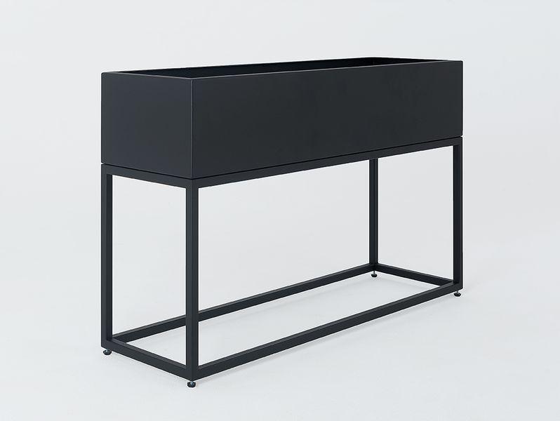Donica metalowa FIORINA 100x30x60 - czarny zdjęcie 2