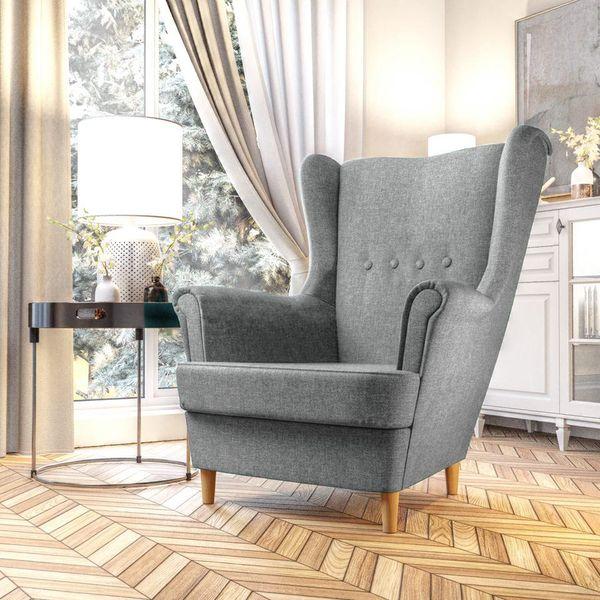 Fotel Skandynawski Uszak mocny materiał+sprężyny zdjęcie 1