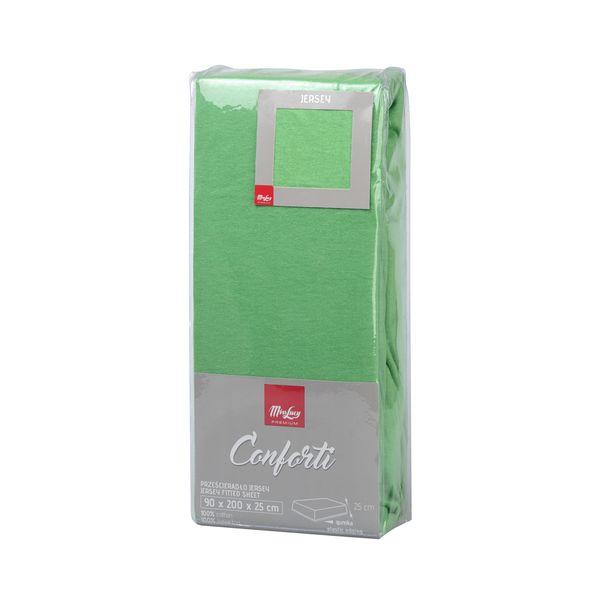 Prześcieradło Jersey Z Gumką Zielone 200x220 Cm