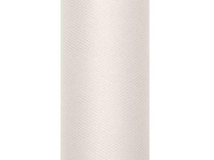 Tiul gładki, kremowy, 0,8 x 9 m