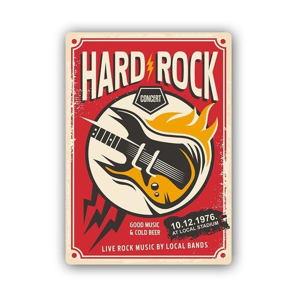 Wydruk na metalu, Retro – hard rock gitara 30x40 zdjęcie 1