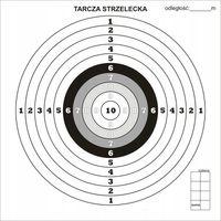 Tekturowe Tarcze Strzeleckie 300g/m2 100 Szt.
