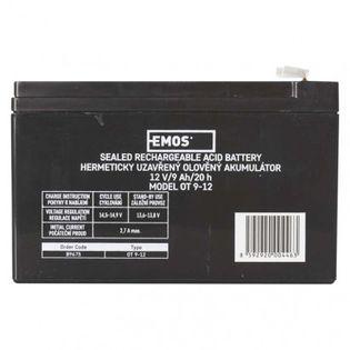 Akumulator AGM 12V 9Ah faston 6,3