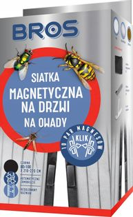 Siatka magnetyczna na drzwi BROS Klik 100cm x 220cm CZARNA