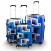 ZESTAW WALIZEK 3 SZT BERWIN BLUE&WHITE WALIZKI XL+L+M 17006