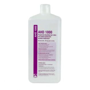 AHD1000 płyn do higienicznej i chirurgicznej dezynfekcji rąk 1 L