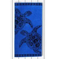 DecoKing Ręcznik plażowy Bawełna ŻÓŁWIE I 90X180
