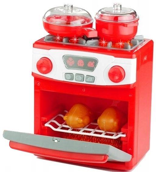 Kuchenka dla dzieci Piekarnik LED Garnki Kurczak Ruszt Kuchnia U29 zdjęcie 12