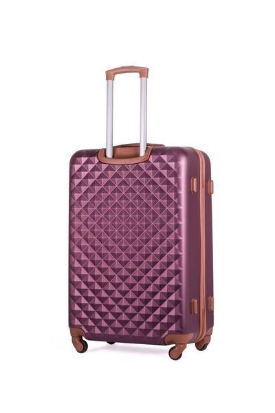 Walizka kabinowa torba podróżna twarda ABS mała S bordowa NOWY MODEL! zdjęcie 3
