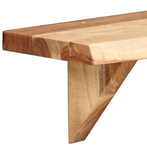 Półka Półki ścienne Drewniane Wiszące Zestaw 2 Sztuki 90x20x16cm