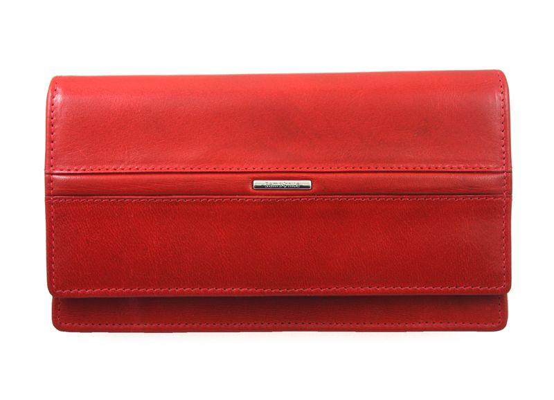 Portfel damski Samsonite RFID, skórzany w kolorze czerwonym zdjęcie 2