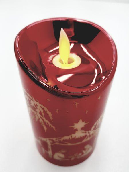 Świeczka LED na baterie świąteczne wzory / kolory zdjęcie 2