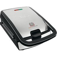 Tefal Sw852D12 Sandwich And Waffle Maker Black/stainless Steel, 700 W, Number Of Plates 2, Number Of Sandwiches 2,