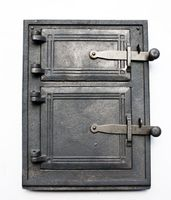 Drzwiczki żeliwne kuchenne nr3; 38x29cm