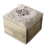 Pudełko na biżuterię AIDA 10X10X8 naturalny + beż