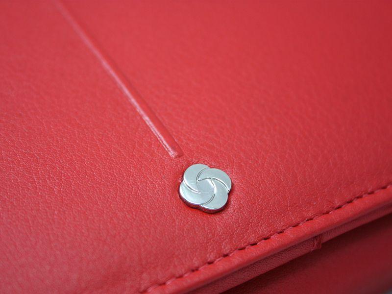 Skórzany, czerwony portfel damski Samsonite RFID zdjęcie 7