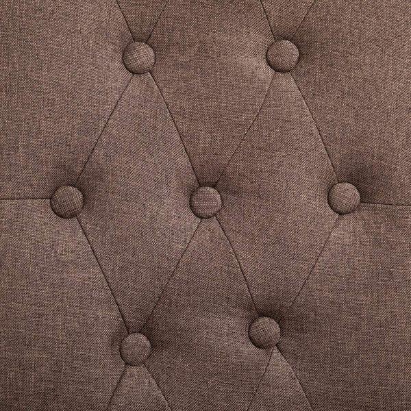 Krzesła Stołowe, 2 Szt., Brązowe, Tapicerowane Tkaniną zdjęcie 2