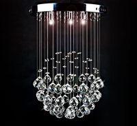 Żyrandol Kryształowy wiszący lampa kryształowa wisząca 30 cm kula HIT