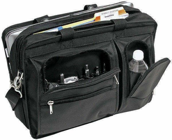 cfe997d361e7c Praktyczna męska torba na laptopa McKlein Czarna Hubbard 17
