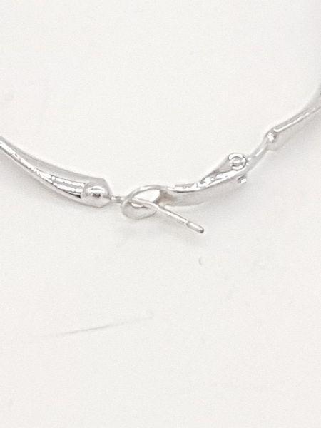 Kolczyki srebrne wiszące koła zdjęcie 3